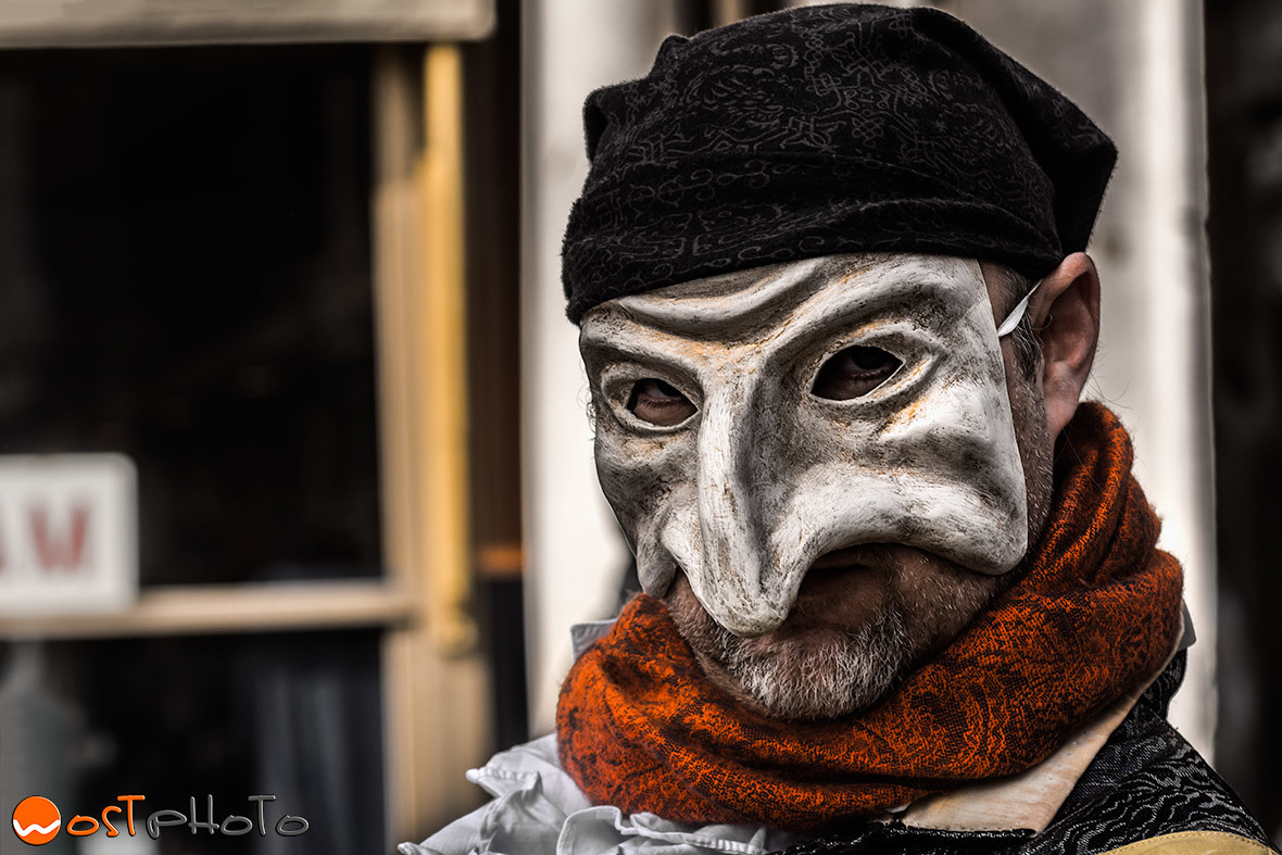 Old traditional maks at the Carnival in Venice/Italy 2017
