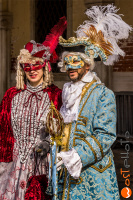 wostphoto, Masks in original Venetian clothes posing at the Carnival in Venice 2017