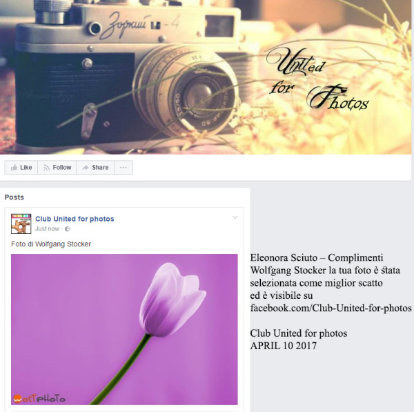 Facebook page United for Photos
