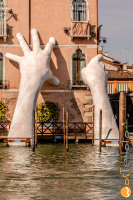 Venice Biennale art project Quinn, the rising hands