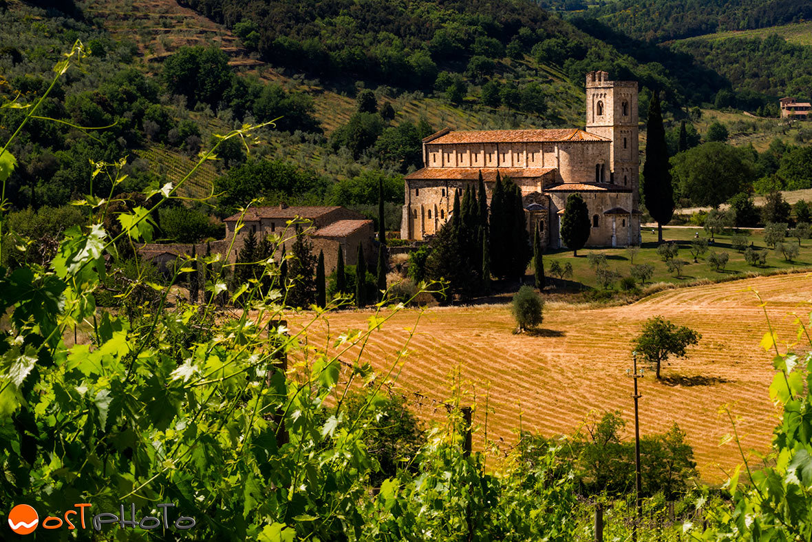 Abbey Sant'Antimo in Val d'Orcia in Tuscany/Italy
