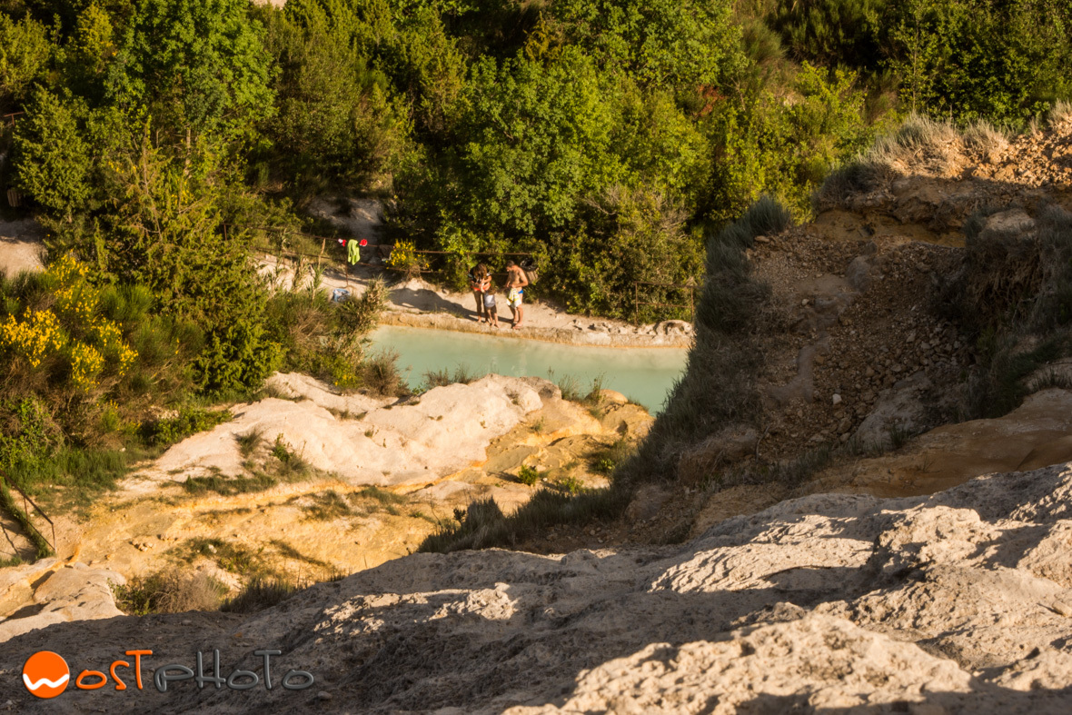 Hot water pools in Bagno Vignoni in Val d'Orcia, Tuscany/Italy