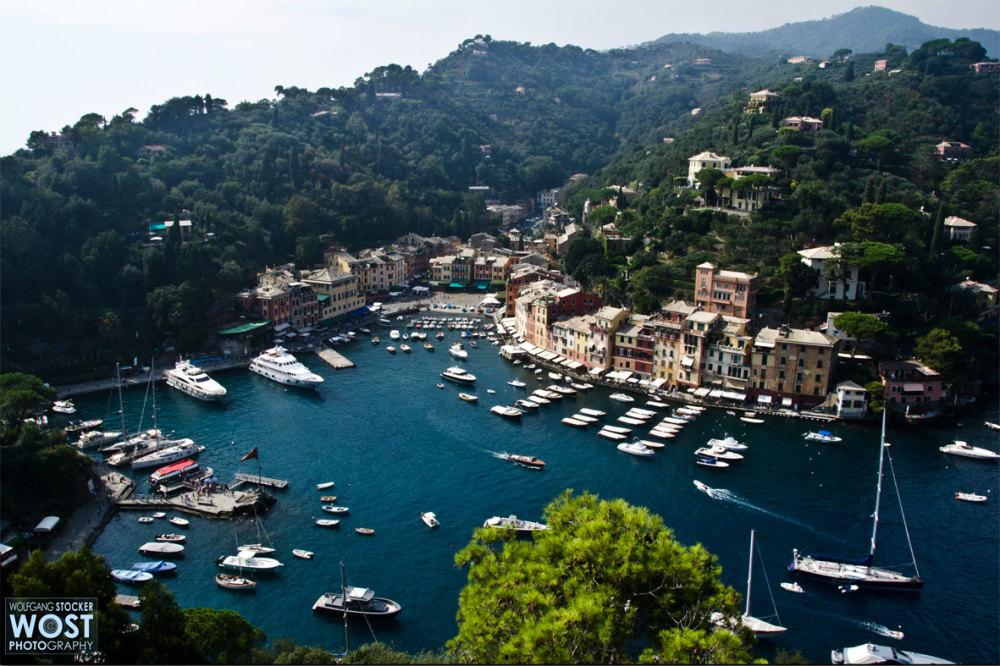 "Portofino viewed from the ""Castello Brown"""