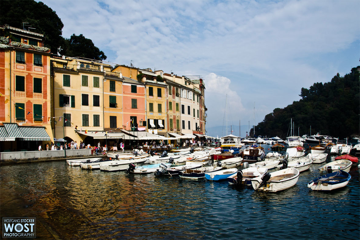 The little harbor of Portofino in Italy