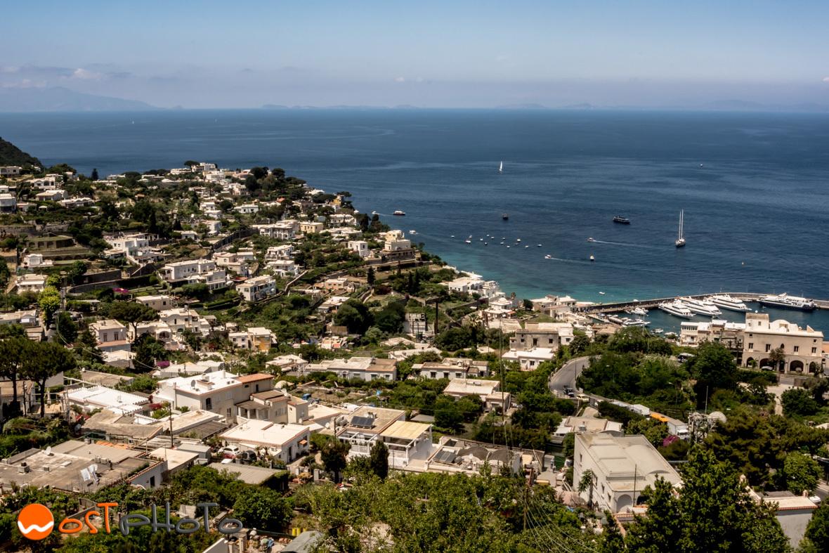 Capri overlooking the bay of Naples