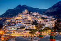 Positano, the vertical village, by night