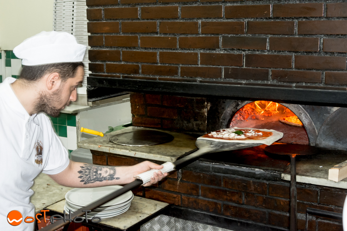 "Pizza made in the famous Pizzeria ""Da Michele"" in Napoli"