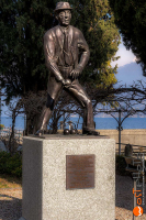 Lake Como, wost, wostphoto, wolfgang stocker, Cadenabbia, bronze sculpture, Adenauer, Konrad Adenauer, honorary citizen, bocce, lake, Italy, Lombardy, Lago di Como, Comosee,