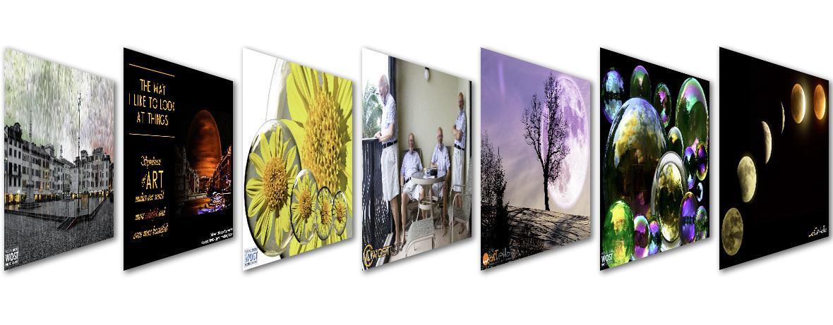 Variety of framed composites for wostphoto