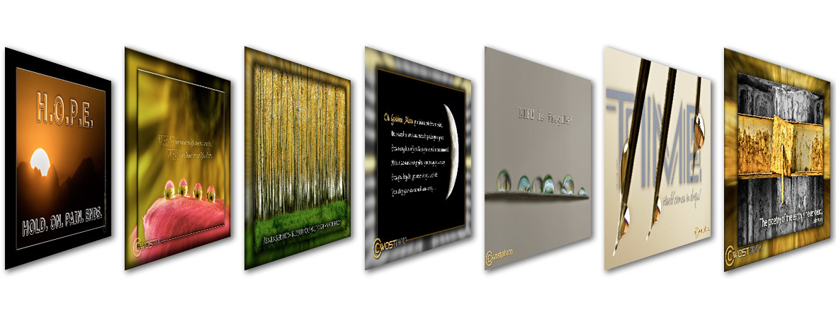 Variety of cards for banner on wostphoto