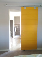 Modern Yellow Barn Door