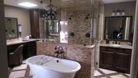 Seamless Glass Enclosure Shower