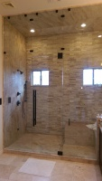 Steam Shower with Frameless Glass Enclosure