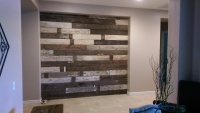 Reclaimed Wooden Accent Wall Installation