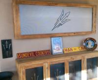 Custom AZ Sun Devils TV Unit and Outdoor Wooden Furniture