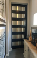 Modern classic steel and wooden barn doors