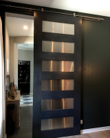 Steel and Wood Barn Door