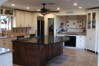 Custom Designed Kitchen Islands with Solid Granite Countertops