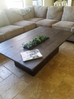Custom Wooden Coffee Table with Planter