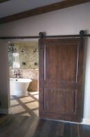 Stained Wood Barn Door