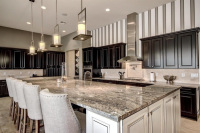 Elegant Kitchen with Solid Granite Slab Installation