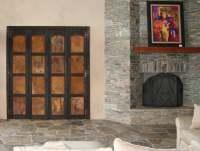 Folding Rustic Metal Doors