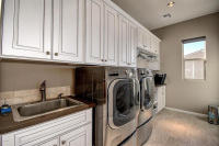Sleek Elegant Laundry Room Remodel