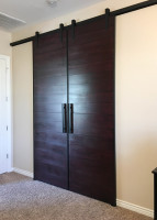 Custom Cherry / Mahogany Double Barn Door