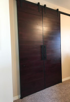 Custom Dark Wooden Double Barn Door