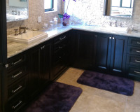Beautiful Dark Wood Bathroom Remodeling Contractor