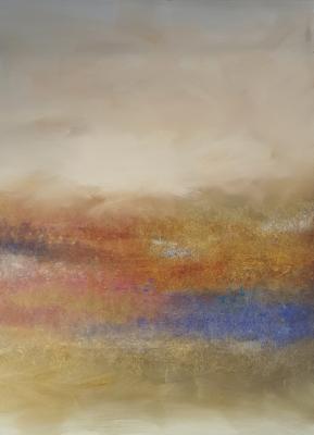 original abstract art painting, impressionist artwork, modern landscape