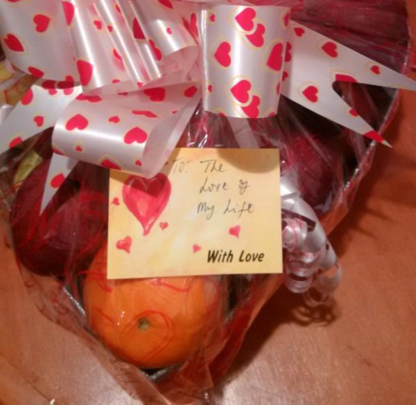 Valentine Fruit basket