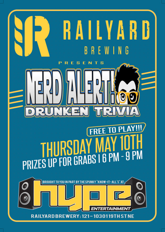 Thursday, May 10th @ Railyard Brewery