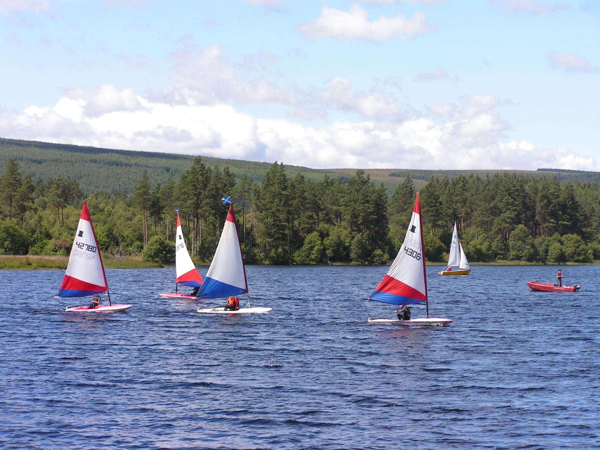 Sailing on Loch Shin