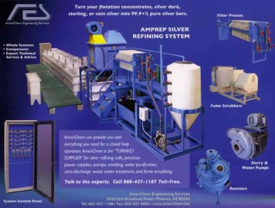 New and used precious metal recovery and refining equipment