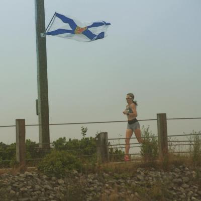 Hot and humid at the Nova Scotia Marathon