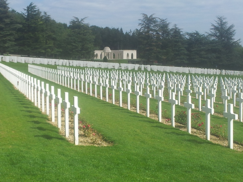World War 1 military cemetary in Douaumont