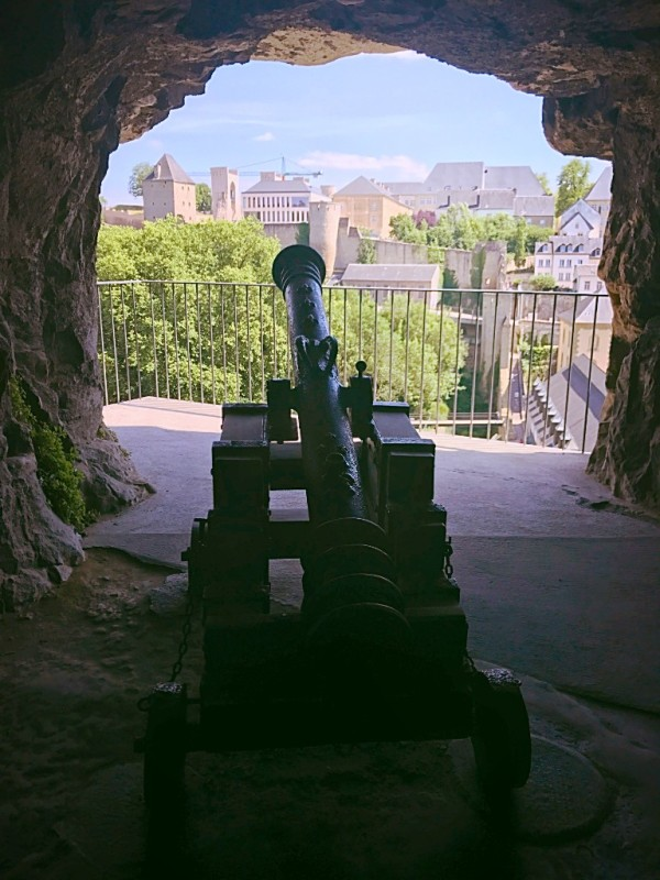 A canon in the Casemates in Luxembourg