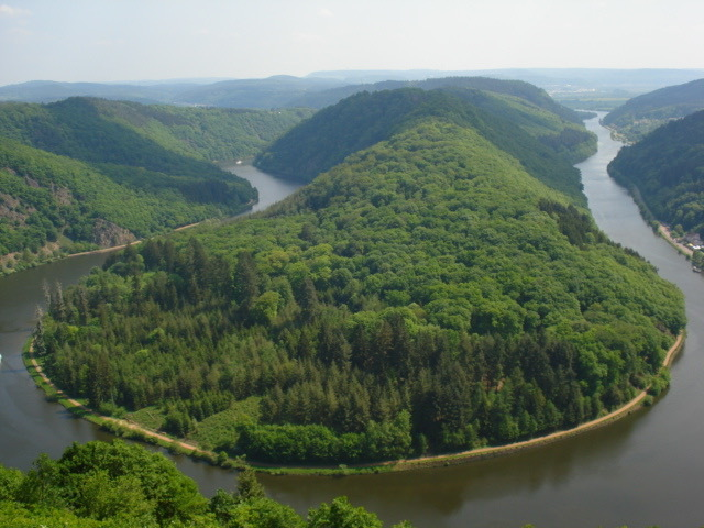 The view over the river bend by the Saarschleife