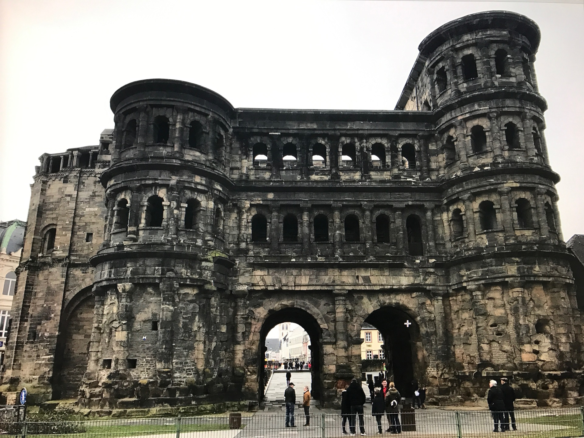 The Porta Nigra, the main symbol of Trier standing since the Romans