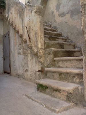 A staircase in southern Italy, beautiful marble used in absent mindedly fashion.