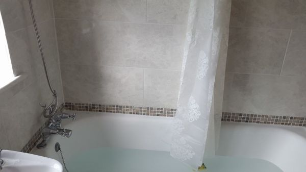 After Installing Shower Head and Tiling Photo 2