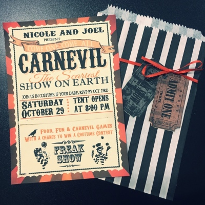 Halloween Carnevil Party Invitation