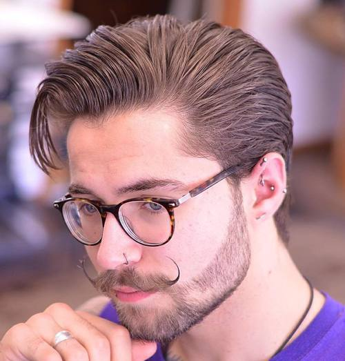 Full length haircut with pompador