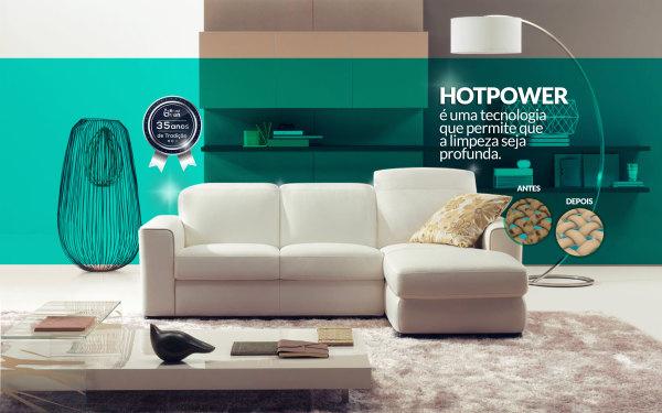 Limpeza profunda a seco, para qualquer tecido, sem atritos ou escovação, isso preserva o sofá.