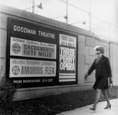 vintage photograph of goodman theatre chicago advertisement