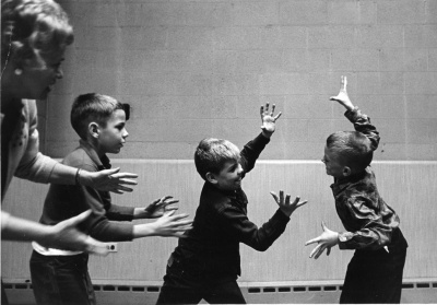 photograph of charlotte chorpenning directing children's theatre chicago