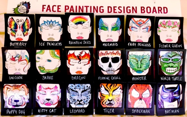 Face Painting Design Board
