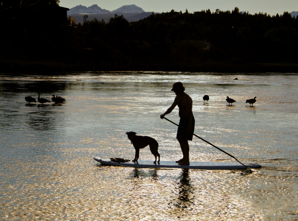 Paddleboarding on the Deschutes