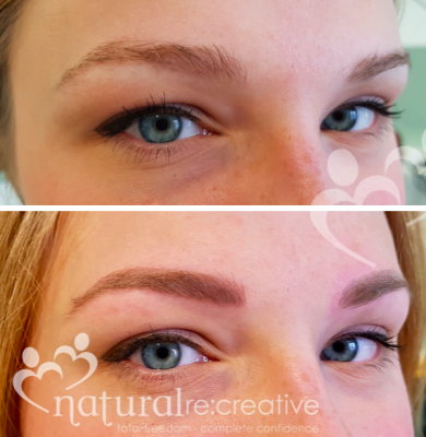 Combination Eyebrows - Hair Strokes and Shading
